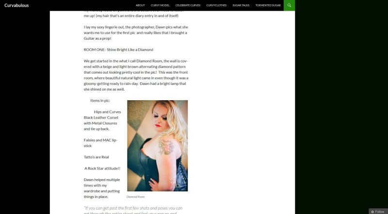 Plus Size Modeling Blog ~ Curvabulous