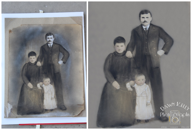 Photo Restoration ~ 1880 Hand-Colored Print