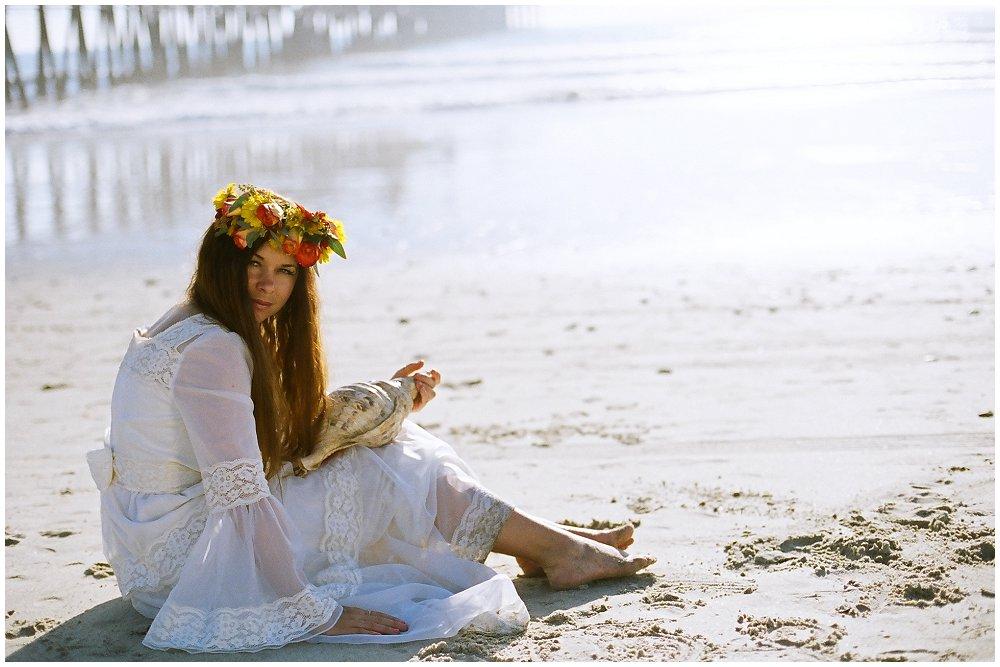 Oceanside Beach Bridal Session ~ Flower Power
