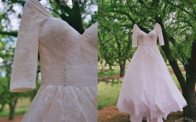 Are Sleeves Your Thing? You'll Envy This Custom Wedding Gown.