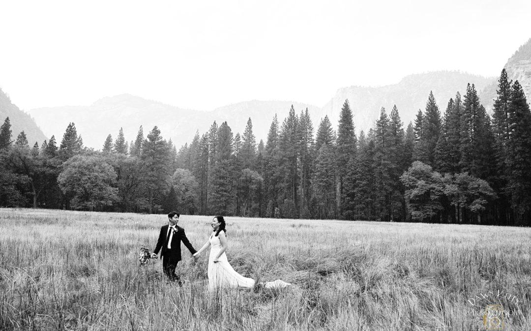 Intimate Yosemite Falls Wedding: Diana + Tim