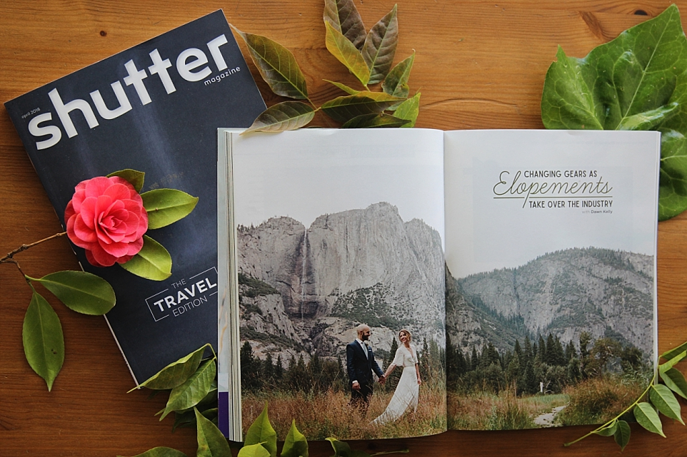 Yosemite Elopement Photographer: Shutter Magazine Publication