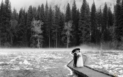 Snowy Yosemite Elopement: Theresa + Charles