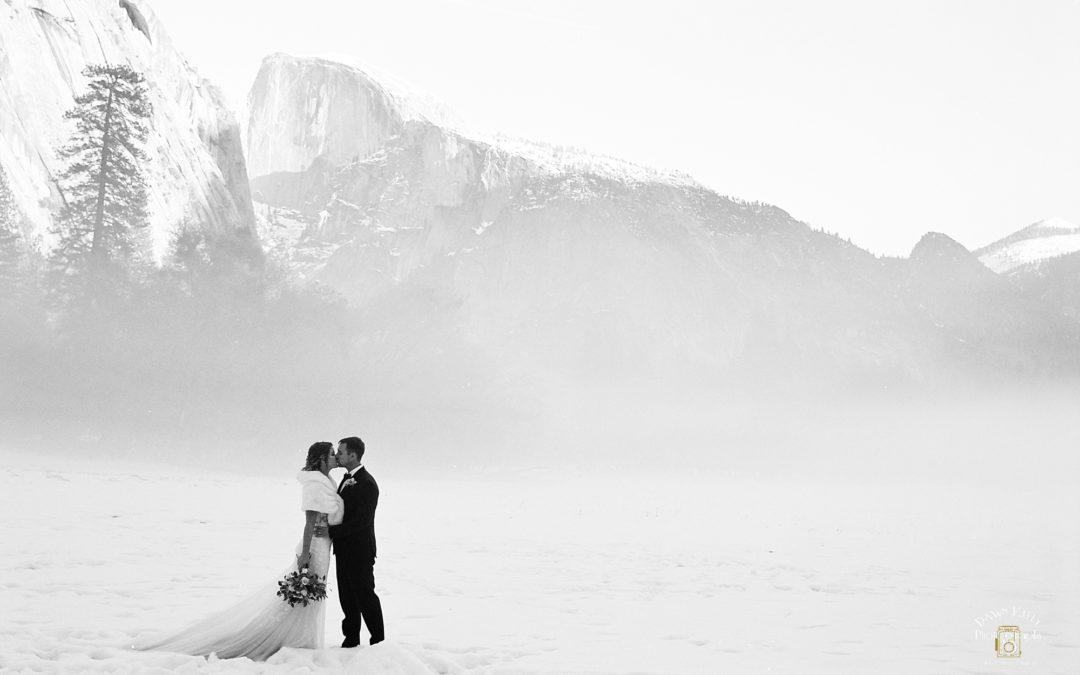 Winter Wonderland Yosemite Elopement: Kelli + Scott